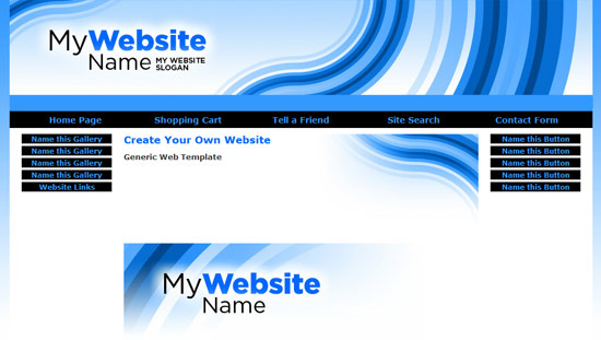 Multi purpose template site builder and web hosting service Start my own website